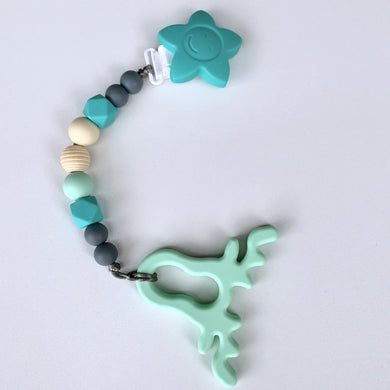 Jambu Beads non-toxic silicone jewellery & teething accessories - Serenity Clip-On Teether with Mint Antlers