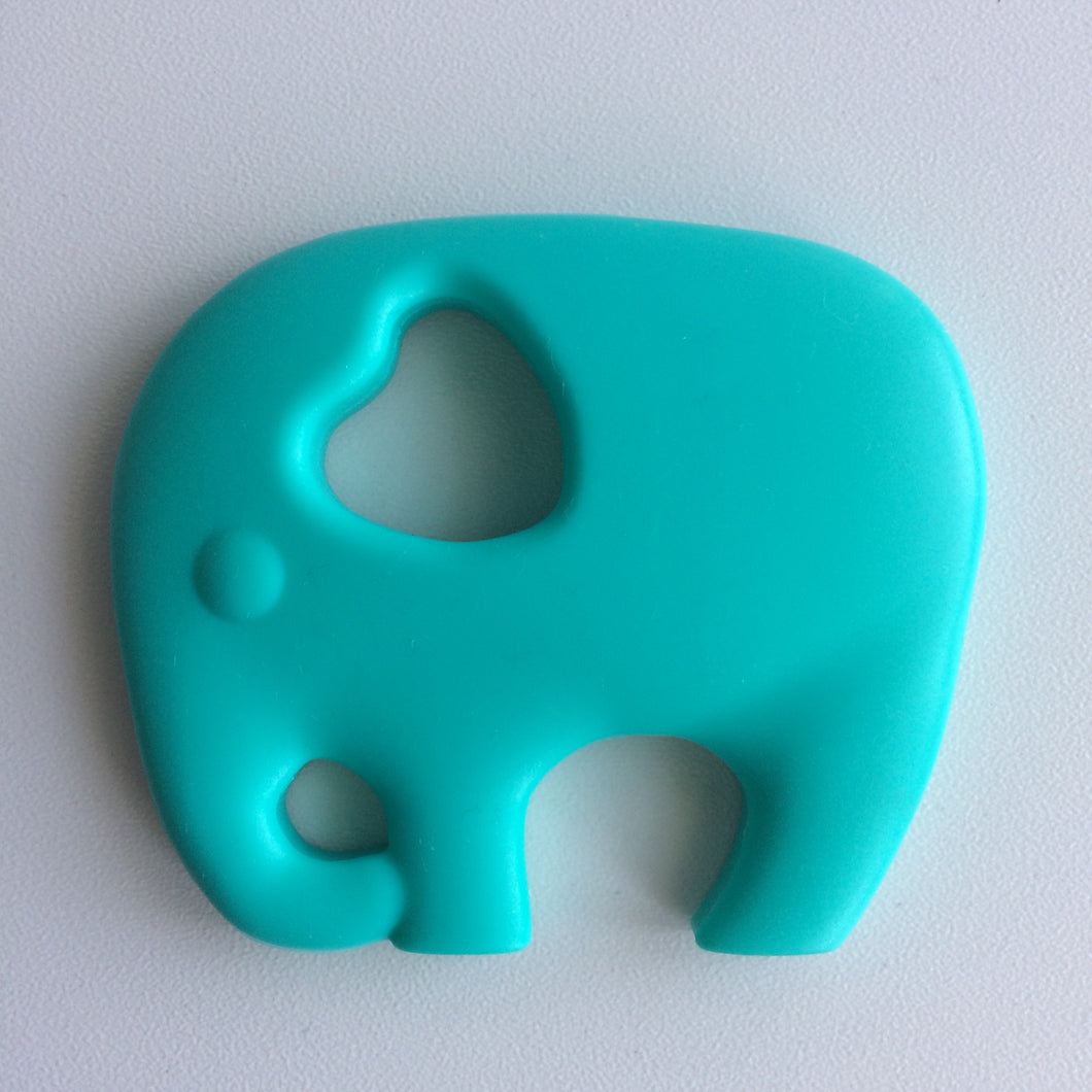 Jambu beads non-toxic silicone jewellery & teething accessories - Elephant Teether in Turquoise