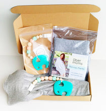 Jambu beads non-toxic silicone jewellery & teething accessories - Harmony Clip-On Teether + Heather Grey Nursing Poncho Gift Set With Gift Box