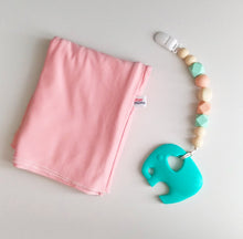 Jambu beads non-toxic silicone jewellery & teething accessories - Harmony Clip-On Teether + Blush Pink Nursing Poncho Gift Set