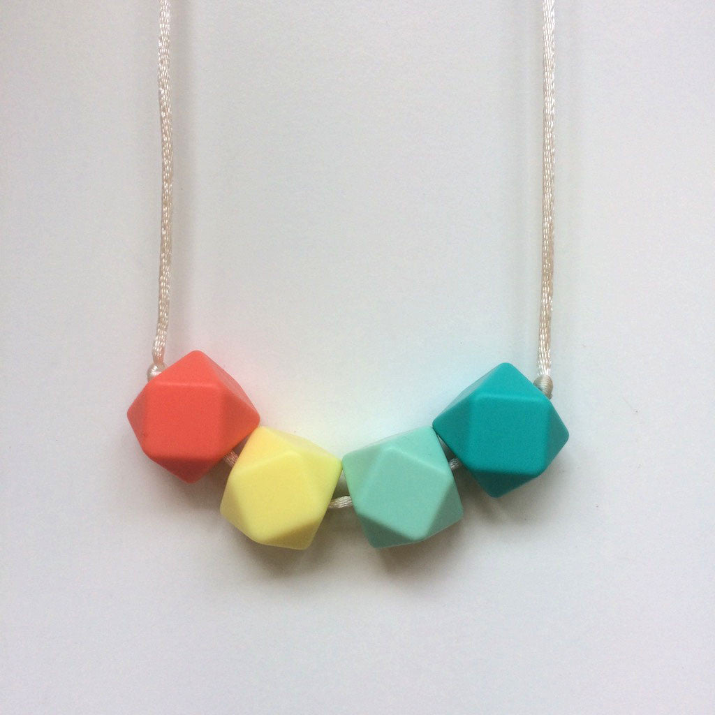 Jambu beads non-toxic silicone jewellery & teething accessories - Joy Necklace in navajo