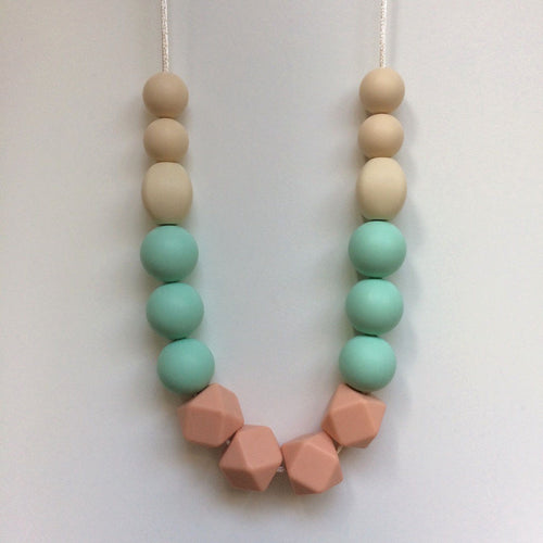 Jambu beads non-toxic silicone jewellery & teething accessories - Jasmine Necklace with navajo cord