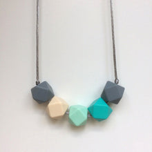 Jambu beads non-toxic silicone jewellery & teething accessories - Quinto Necklace in Turquoise & Grey