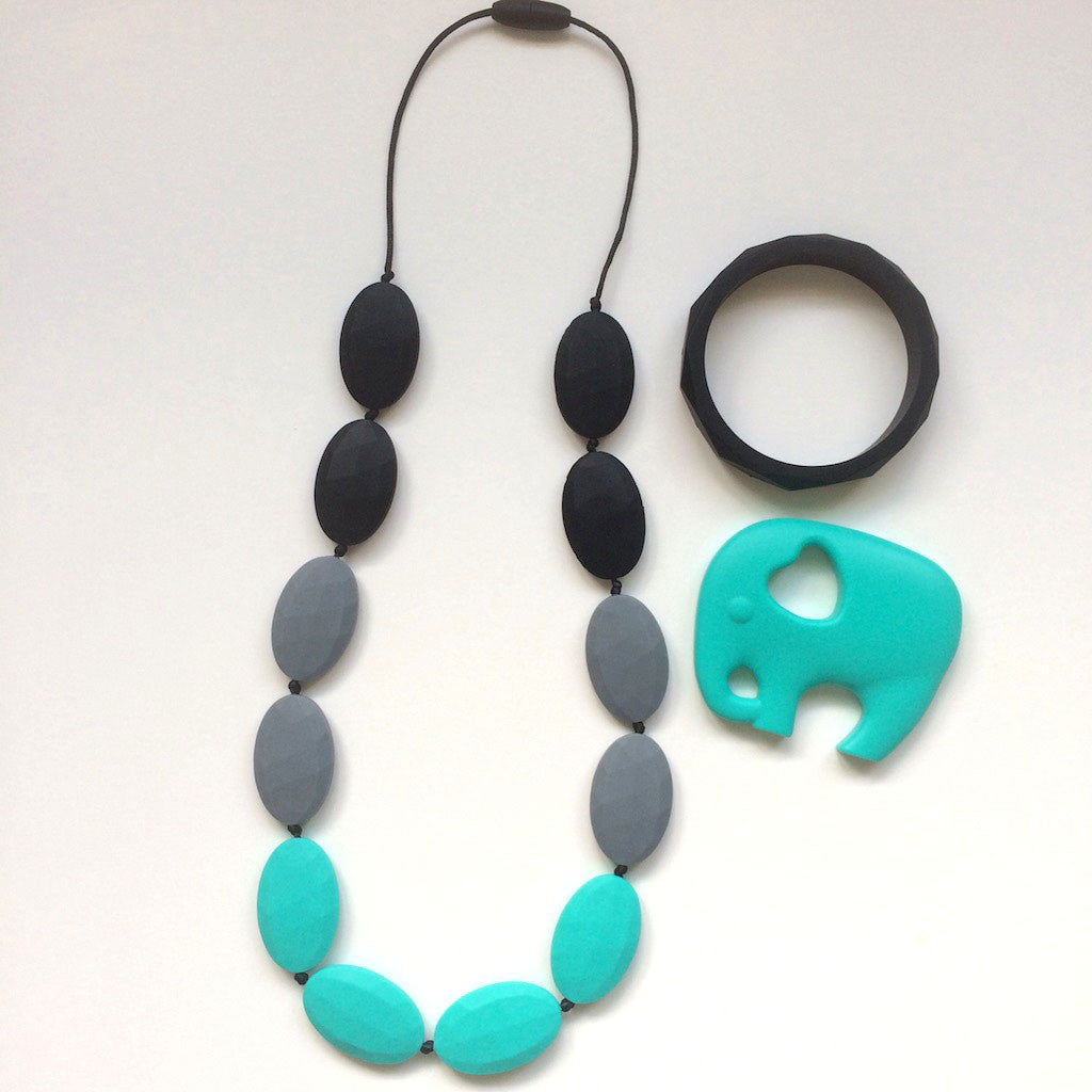Jambu beads non-toxic silicone jewellery & teething accessories - Papilio Mum & Bub Gift Set