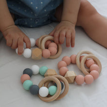 Jambu beads non-toxic silicone jewellery & teething accessories - Duo Rattle Teethers