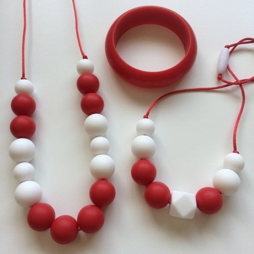 Jambu beads non-toxic silicone jewellery & teething accessories - Jubilee Mummy & Me Necklace Set