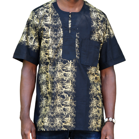 Black & Gold East African Men's Classic Design Shirt