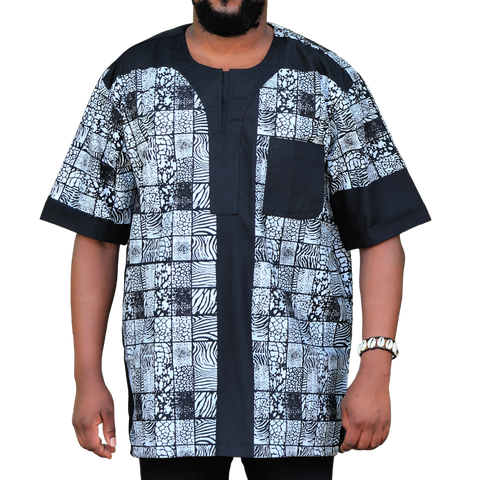 Black & White East African Men's Classic Design Shirt