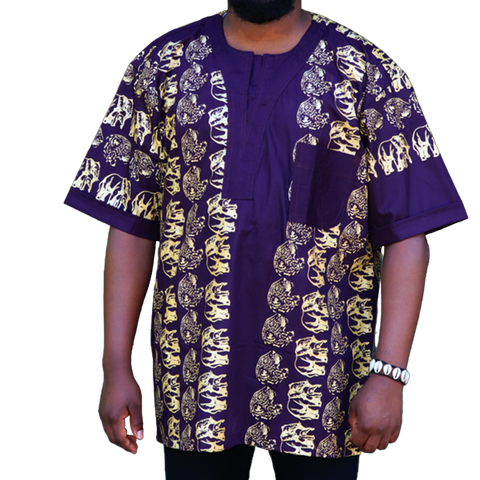 Grapevine & Gold East African Men's Classic Design Shirt