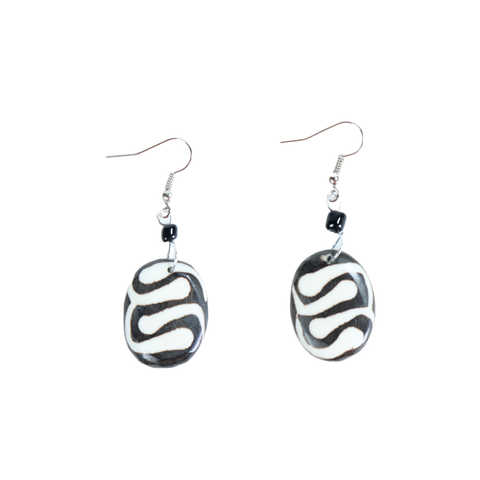 Zebra-Print Earrings - Type 3