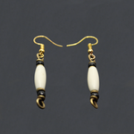 Cylinder Cream Earrings