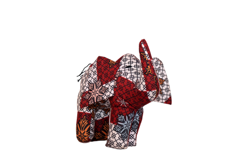Kitenge Fabric Stuffed African Animal
