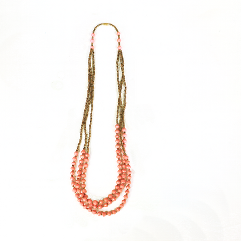 Rouge Paper Bead Necklace