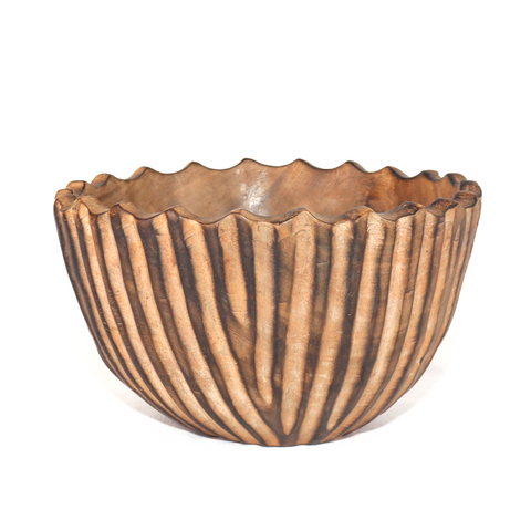 Ridged Jacaranda Salad Bowl