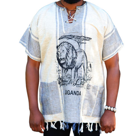 East African Fringed Shirt - Lion