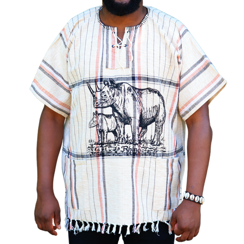 East African Fringed Shirt - Rhino