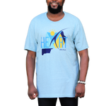 Heather Prism Ice Blue Uganda At Heart T-Shirt