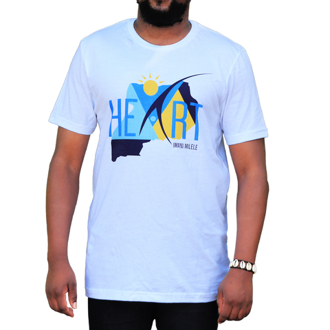 White Uganda At Heart T-Shirt