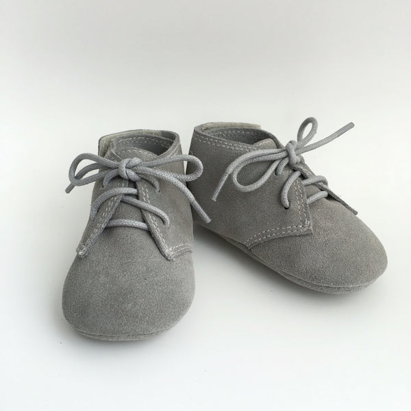 'Little Charlies' Grey Suede
