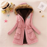 Faux Fur Hooded Candy Coloured Parkas Jacket