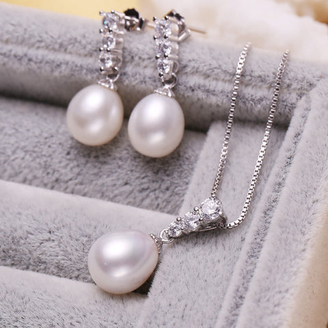 natural pearl Necklace Set