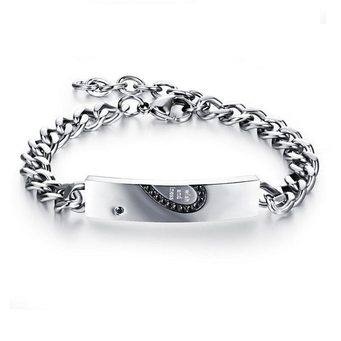 Couple Stainless Steel Adjustable Chain Bracelet