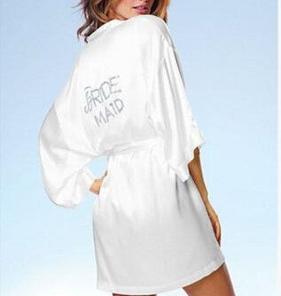 Wedding Bride Bridesmaid Satin Robe