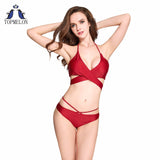 Red Brazilian Bikini Set