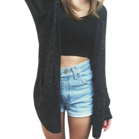 Loose Knitted Pocket Cardigan
