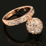 Cubic Zirconia Ball Party Ring