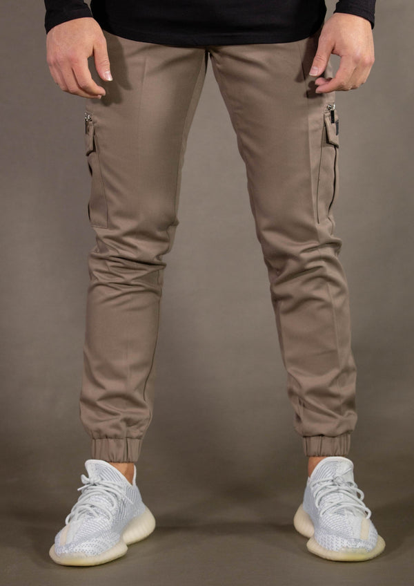STAMP CARGO PANTS - KHAKI