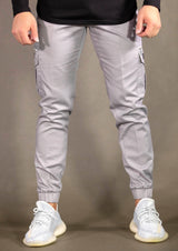 STAMP CARGO PANTS - GREY