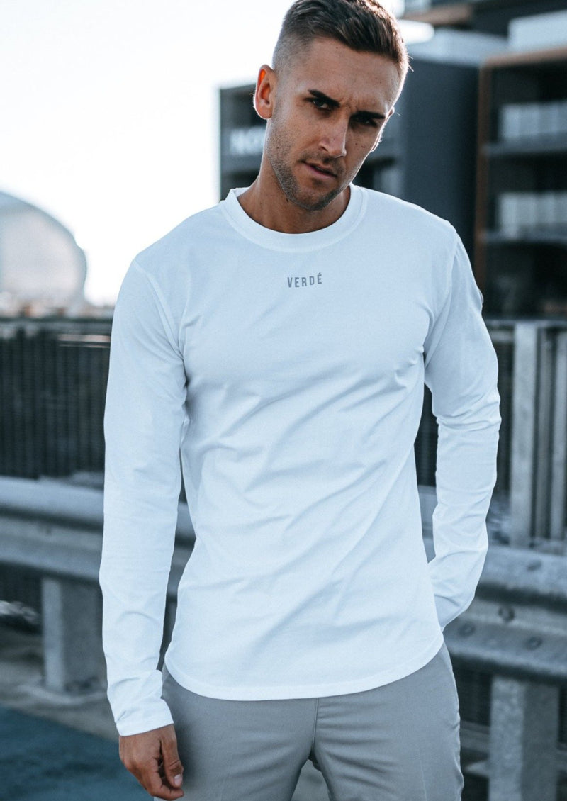 EMBLEM LONG SLEEVE - WHITE