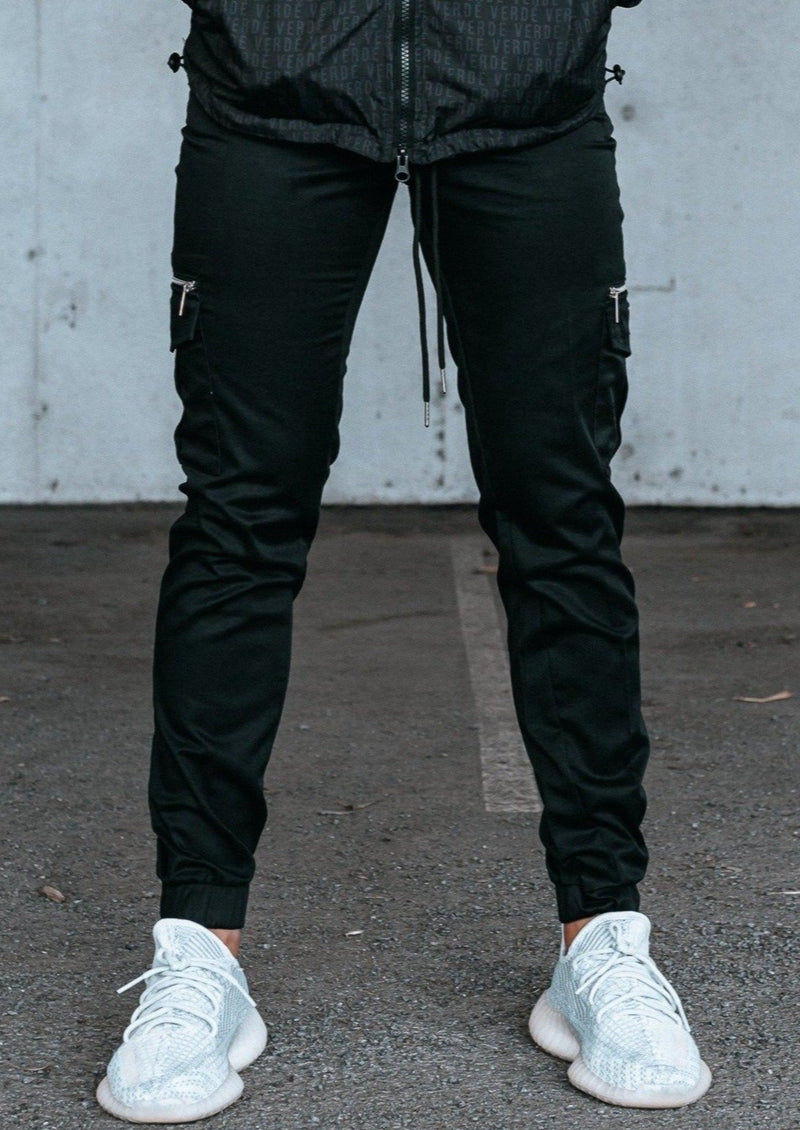 STAMP CARGO PANTS - BLACK