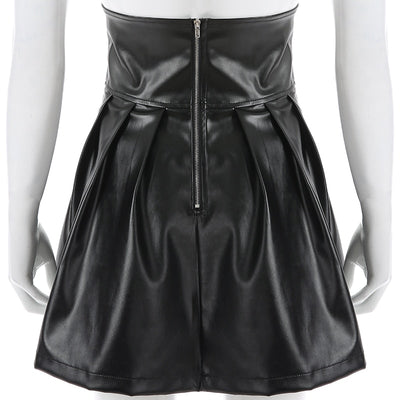 Sanity Vegan Leather Skirt