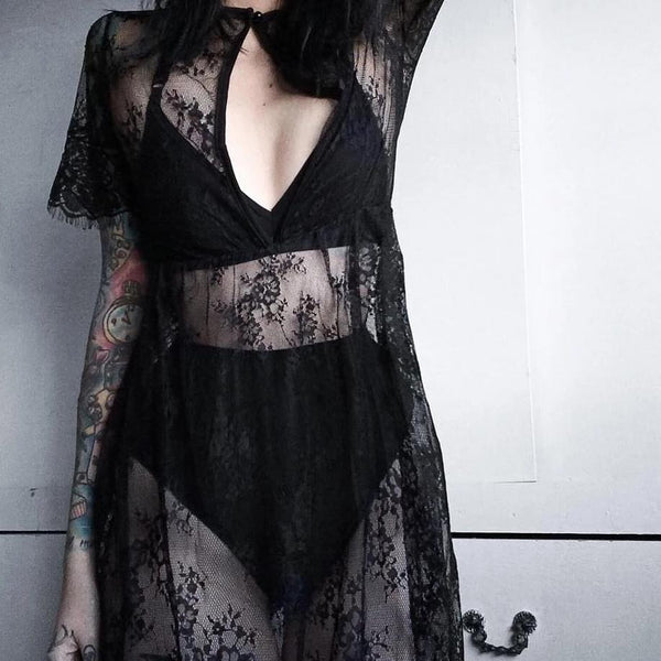 Darkness Lace Maxi Dress