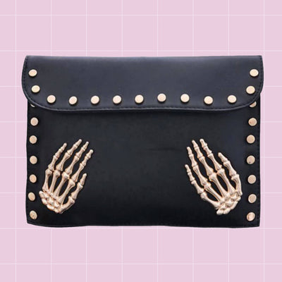 Skeletal Grasp Clutch Bag (3 Colours)