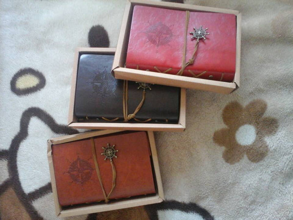 Vegan Leather Pirate Journals (9 colors and sizes)
