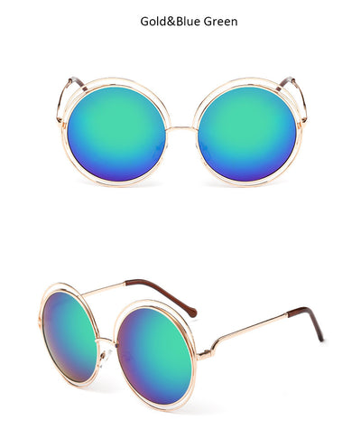Oversized Mirrored Sunglasses