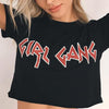 Instagram Special: Black Cropped Girl Gang T-Shirt