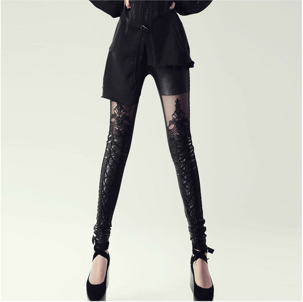 Gothic Lace Leggings