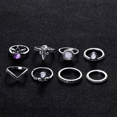 Ancient Wicca Stack Ring Set (2 Colours)