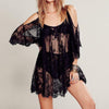 Special Discount: Black Sheer Lace Dress