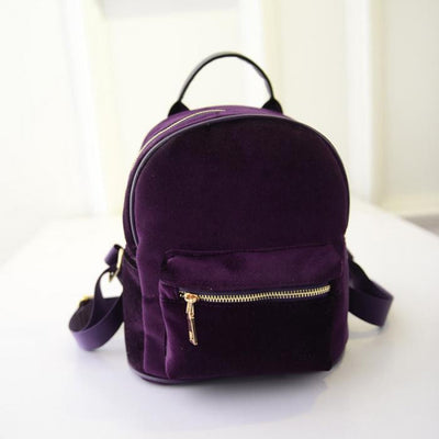 Purple Velvet Backpack