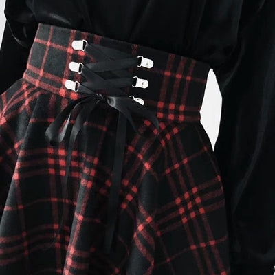 School is OUT Plaid Skirt