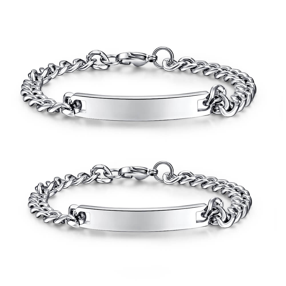 Valentines Day Gift Couples Bracelet Romantic Him and Her Stainless Steel Gifts