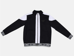 Logo Rib Color Combination zip-up