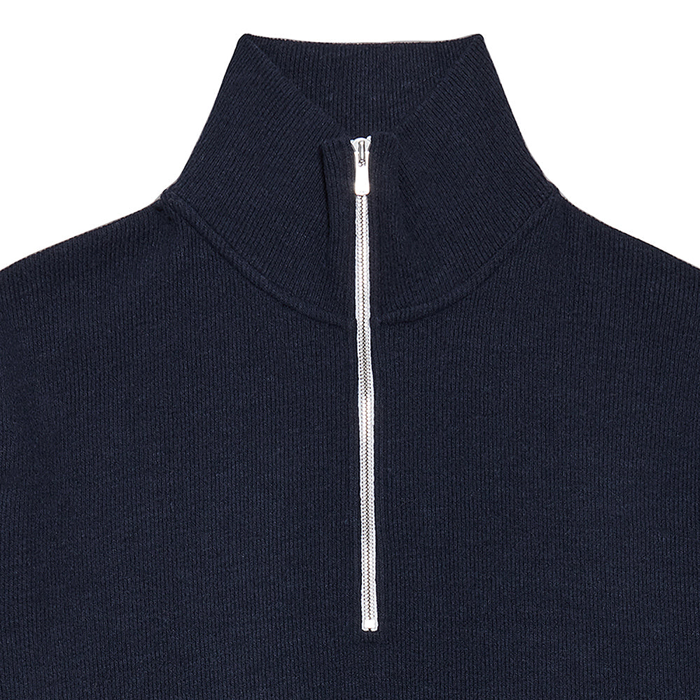 Half Zip-Up Top in Navy