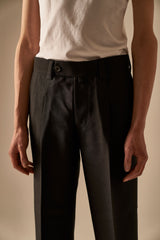 Coles Black Woolsilk Slacks