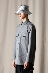 Haus 02 Grey Cotton Shirt